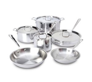 10-Piece Cookware Set / Stainless Steel - Packaging Damage