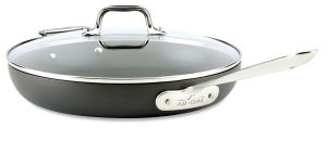 12-Inch Fry Pan w/Lid / Hard Anodized - Packaging Damage