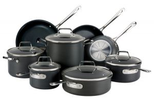 13-Piece Nonstick Cookware Set / B1 - Hard Anodized - Second Quality