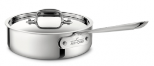 2-Qt. Saute Pan w/Lid / Stainless - Packaging Damage