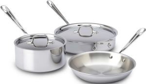 5-Piece Cookware Set / Stainless - Second Quality