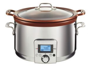 5-Qt. Gourmet Slow Cooker / Stainless - Packaging Damage