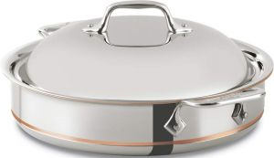 3-Qt. Sauteuse Pan / Copper Core - Second Quality