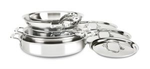 8-Piece Cookware Set / D3 Stainless Compact - Second Quality