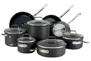 13-piece Hard Anodized Cookware Set / B1 - Packaging Damage