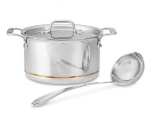 4-Qt. Soup Pot w/Ladle / Copper Core - Packaging Damage