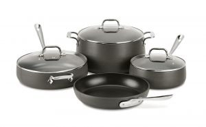 7-Piece Nonstick Cookware Set / HA1 Hard Anodized - Packaging Damage