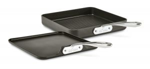 2-Piece Stacking Grill & Griddle Set / Nonstick / Essentials - Packaging Damage
