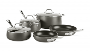 8-Piece Cookware Set / Hard Anodized - Packaging Damage