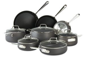 13-Piece Nonstick Grey Cookware Set / Hard Anodized - Packaging Damage