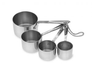 Standard Size Measuring Cups Set / Stainless - Packaging Damage