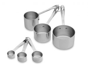 Odd Size Measuring Cups and spoons set / Stainless - Packaging Damage