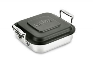 8-Inch Square Lasagna w/ Lid / Stainless - Packaging Damage